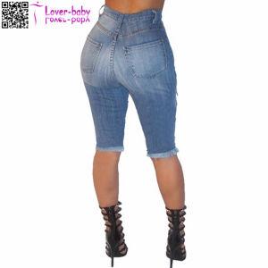 in Bluk Denim Destroyed Bermuda Jeans Shorts Women 2017 L535 pictures & photos