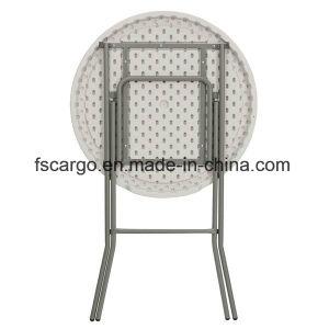 32u2032u2032 Round Granite Plastic Bar Height Folding Table (CGT1618)