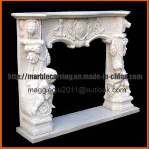 White Marble Fireplace Mantel with Angel Mf1714 pictures & photos