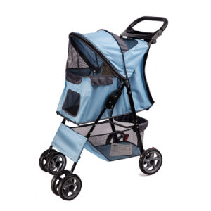 High Quality Colors Secure 4 Wheels Pet Strollers pictures & photos
