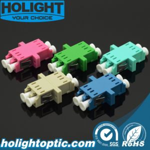 LC to LC Duplex Optical Adaptor with Flange pictures & photos