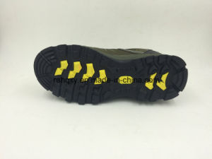 New Designed Safety Shoes Split Nubuck Leather Safety Shoes with Composite Toe Cap (16050) pictures & photos