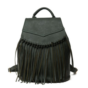 Fashion Women Fringe Backpacks with PU Tassel pictures & photos