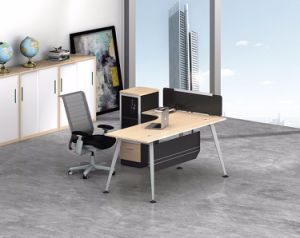 White Customized Metal Steel Office Staff Table Frame with Ht70-1 pictures & photos