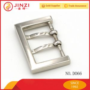 Rectangular Metal Belt Buckle Double Prongs End Bar Heel Bar with High Quality pictures & photos