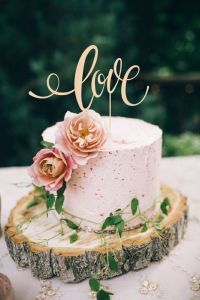 Love Wedding Cake Topper Rustic Custom Cake Topper pictures & photos
