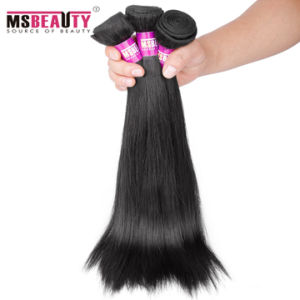100% Human Hair Remy Brazilian Silky Straight Hair Weaving pictures & photos