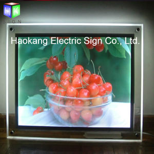 Wall Mounted Crystal Acrylic Photo Frame Menu Board Display Light Box pictures & photos