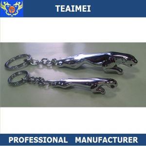 Custom 3D Metal Chrome Jaguar Car Logo Keyring Car Keychain pictures & photos