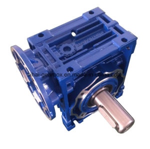 Input Flange B14 with Output Shaft Worm Gearbox Power Transmission pictures & photos