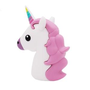 Gift 2600mAh 2200mAh 2000mAh Portable Mobile Charger Silicon Carton Emoji Unicorn Power Bank pictures & photos