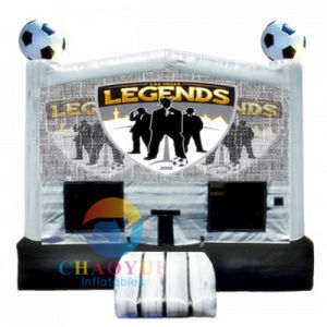 Funny Football Inflatable Bounce House for Amusement Park pictures & photos