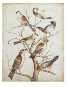 China Style Modern Handmade Abstract Team Birds Oil Painting pictures & photos