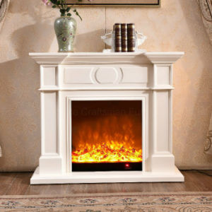 Modern Simple White LED Lights Heating Electric Fireplace (323) pictures & photos