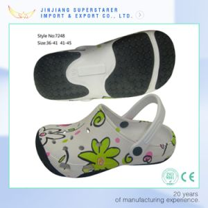 Anti Slip EVA Holeys Clogs with Rb Outsole and Fashion Printing Upper pictures & photos