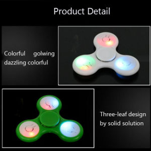 2017 Top Selling Tri Fidget Spinner Toy with LED Lights Hand Spinner with ABS Bearing Finger Spinner pictures & photos