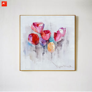 Watercolor Tulip and Lily Canvas Oil Painting pictures & photos
