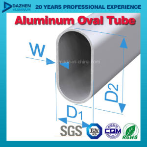 Aluminum Round Oval Wardrobe Tube Aluminium Profile Customized pictures & photos