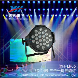 Concert Stage Lighting DMX512 RGB 24X3w 3 in 1 LED Stage PAR Light pictures & photos