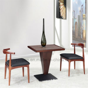 Dining Room Leather Upholstered Wooden Table and Chair (SP-CT626) pictures & photos