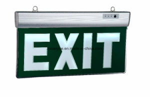 Running Man Left Arrow White Letters Green Board LED Lighting Exit Sign pictures & photos