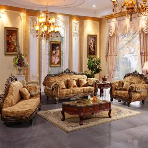 Leather Sofa with Sofa Chair for Living Room Furniture (521) pictures & photos
