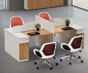 Laminated Office Furniture L Shape Workstation Office Partition (HX-NCD066) pictures & photos