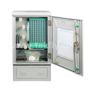 96/144/288/576 Core Outdoor FTTH Waterproof Material Optical Fiber Cross Connect Cabinet pictures & photos