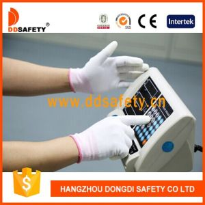 Ddsafety 2017 White PU Coated Nylon Work Glove pictures & photos