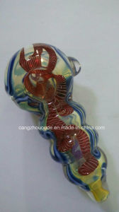 Colourful Glass Smoking Hand Pipe pictures & photos