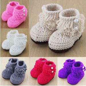 Customized Safe Hand Knitting Crochet Woven Kids Shoes pictures & photos