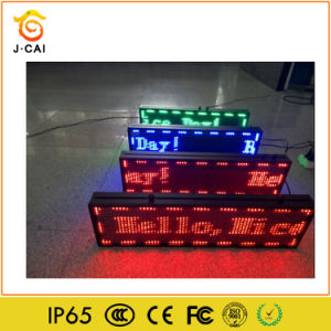 Wholesels Red Color Outdoor P10 LED Display with 100cmx20cm WiFi + U Disk Control for Outdoor Advertising Use with High Brightness Waterproof pictures & photos