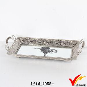 Handmade Rectangular Antique Mirror Silver Tray pictures & photos