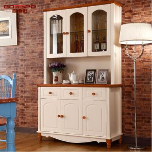 White Paint Household Wine Cabinet (GSP9-048) pictures & photos