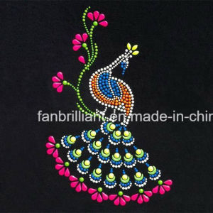 Hot Fix Rhinestone Motif Heat Transfer