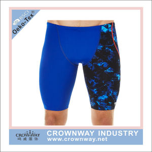 Polyester Spandex Swimming Trunk Men Swimwear with Sublimation Printing pictures & photos