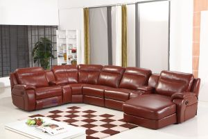Home Furniture Corner Sectional Sofa Leather Cinema Recliner Sofa pictures & photos