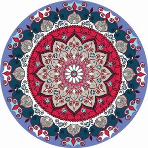 Custom Printed Round Yoga Mat Meditation Mat Carpet Deco Mat pictures & photos