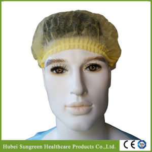 Yellow Non-Woven Mop Cap, Mob Cap, Clip Cap, Bouffant Cap pictures & photos