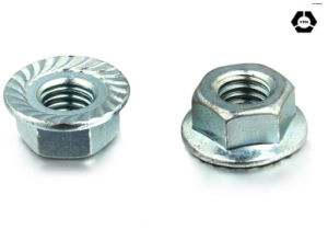 DIN 6923 Carbon Steel Hex Flange Nut with Yellow Zinc pictures & photos