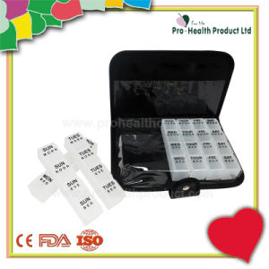 Leather Purse 7 Day Pill Box (pH1229C) pictures & photos