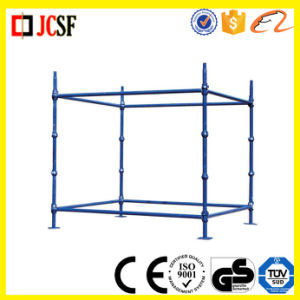 Blue Painted Cuplock Scaffolding Standard pictures & photos