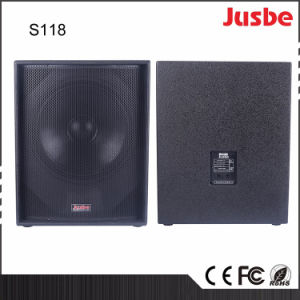 S118 650W Passive Single 18 Inch Subwoofer Box Home Theatre pictures & photos