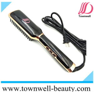 Brush Hair Straightener Comb Iron with LCD Display pictures & photos