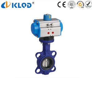 Klqd Brand Dn400 Wafer Type Pneumatic Butterfly Valves pictures & photos