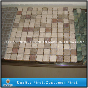 Natural Travertine / Marble Stone Mosaic Tiles for Bathroom Wall, Floor pictures & photos