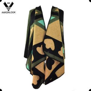 Wholesale Oversize Fashion Acrylic Jacquard Hot Selling Shawl pictures & photos