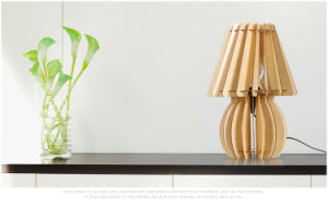 Assembled Fashionable Wooden Decorative Vase Desk Lamp pictures & photos