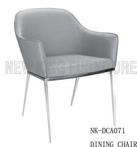 Wholesale Modern Stainless Steel Legs Low Armrest Dining Chair (NK-DCA071)