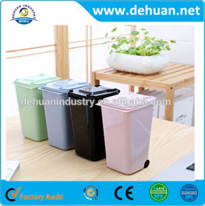 Plastic Mini Waste Bin/ New Material Wholesale Price Desktop Dustbin pictures & photos